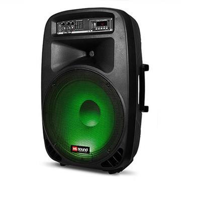 Caixa Amplificada HS Sound HSL-15A 200w com Auto Falante em LED Preto