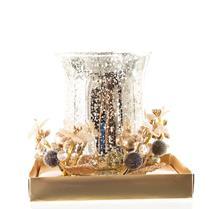 Enfeite Natalino Candelabro Santini Christmas 048-065233 Plástico e Vidro Dourado