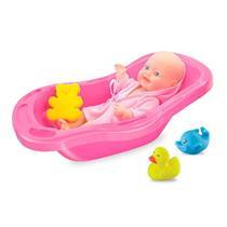 Boneca Bebê na Banheira Líder AP879 Plástico 39cm