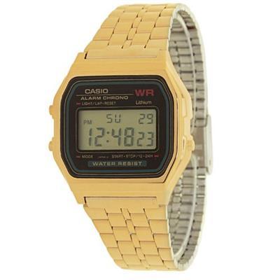 cb25b9d74ca Relógio Feminino Cassio A159WGEA1DF Digital Pulseira de Aço Dourado ...