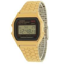 Relógio Feminino Cassio A159WGEA1DF Digital Pulseira de Aço Dourado
