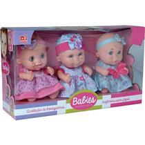 Bonecas Babies Expressões Trigêmeas Candide 2930 Plástico