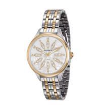 Relógio Feminino Montaigne 99166LPMVBE3 Analógico Pulseira de Aço Prata e  Dourado 9625395b18
