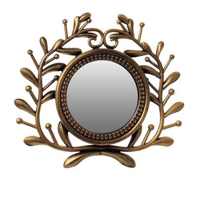Conjunto Relógio e Espelhos 3 Peças Latcor KD720170 Molduras de Plástico Dourado