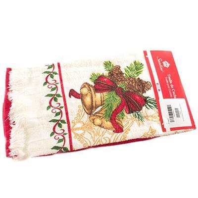Jogo para Cozinha 2 Peças Santini Christmas 048-015824 com 2 Panos de Copa Tecido de Algodão