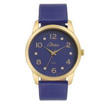 Relógio Feminino Condor CO2035KWE/K2A Analógico Pulseira de Couro Sintético Azul