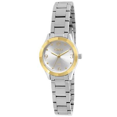 Relógio Analógico Feminino Condor CO2035KRD/3K Aço Prateado e Dourado