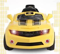 Carro Brinquedo Bandeirante Camaro 2614 Polipropileno Bateria 6V com Controle Remoto Amarelo