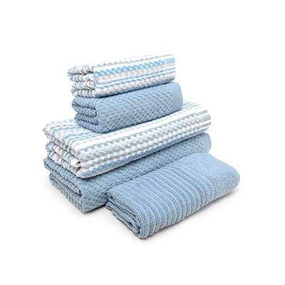 Jogo Toalhas de Banhão 5 peças Yumi Buddemeyer Azul