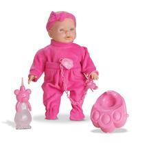Boneca Roma jensen Mini Bebê Mania Xixi 5340 Poletileno Vinil 44,6 cm Branca