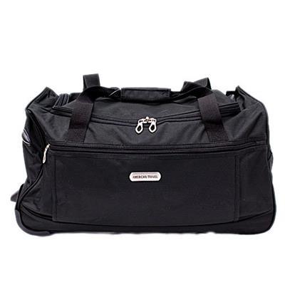 Bolsa Duffel Bag Latcor F-3756 com 2 Rodas Tamanho 22 Poliéster Preta