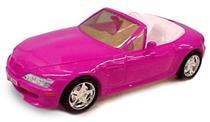 Carro Roma Jensen Roadster para Meninas 3010 Plástico Acionamento Manual Rosa