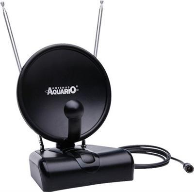 Antena Interna Amplificada Aquário TV 500 VHF UHF - HDTV (54 a 806 MHz) FM