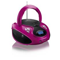 CD Radio USB Player Multilaser SP179 20W 127V Bivolt Rosa e Preto
