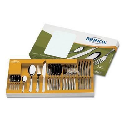 Conjunto de Talheres Brinox Lyon 24 Peças 5101/102 Aço Inox