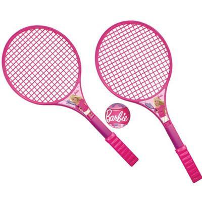 Conjunto de Raquetes e Bola Barbie Líder 421 Plástico Rosa