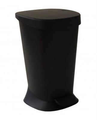 Lixeira 5 Litros Coza com Pedal Square 10424/0008 Plástico Preto