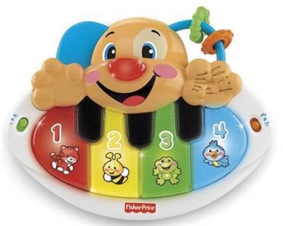 Brinquedo Piano Cachorrinho L&L Fisher Price Mattel APR Y9853 Plástico 3 Pilhas AA