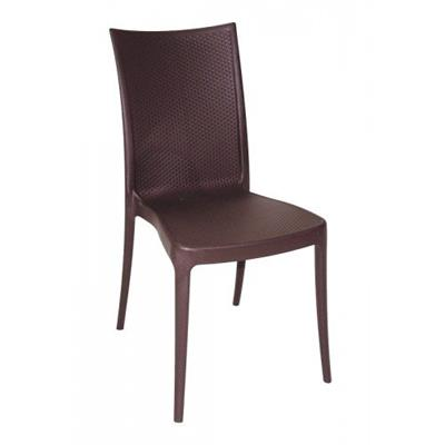 Cadeira Tramontina Laura Ratan 92032/109 Polipropileno e Fibra de Vidro Marrom