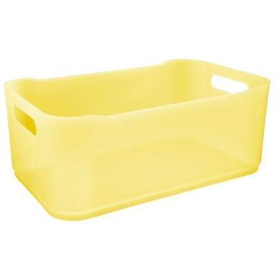 Cesta Coza Fit Grande 10820/0463 Plástico Amarelo
