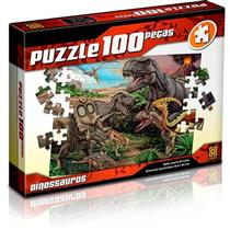 Quebra-cabeça Grow 100 Peças Dinossauros 02660