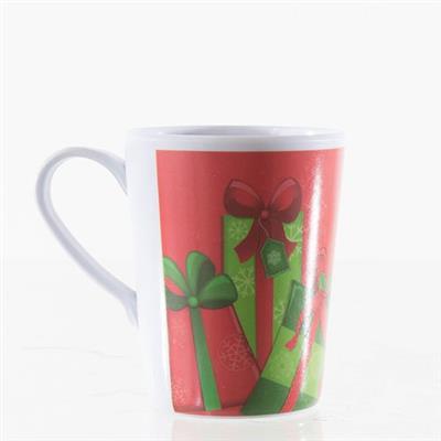 Enfeite Natalino Caneca Santini Christmas 066-590002SD Melamina Branco e Vermelho