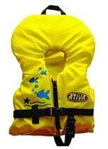 Colete Salva-Vidas Ativa Baby Até 22kg Amarelo