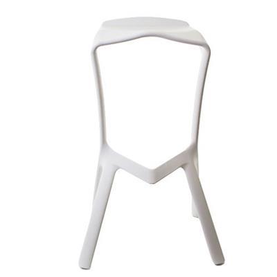 Cadeira Latcor 22-186P Estrutura Metálica Assento PVC Branco
