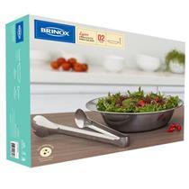 Conjunto Para Servir Salada 2 Peças Brinox 2338/100 Aço Inox