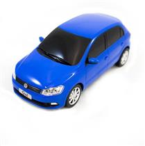 Brinquedo Carro Sarcop VolksWagen Gol com Controle Remoto 28085 Plástico Azul