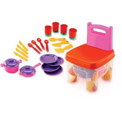 Brinquedo Cadeira Brincadeira de Cozinha Dismat MK201 Plástico Colorido