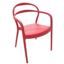 Cadeira Sissi Tramontina 92045/040 com Braços Plástico Vermelho