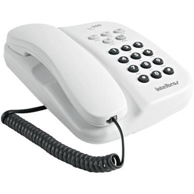 Telefone com Fio Intelbrás TC-500 com Chave Funções Mudo Flash e Pausa Branco Ártico