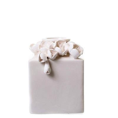 Vaso de Porcelana Latcor LRP61067 Flor Branco