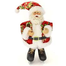 Papai Noel Decoração de Natal Santini Christmas 048-454143 Vermelho
