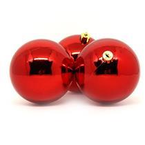 Bolas de Natal com 6 Peças Santini 048-956156SD Vermelho