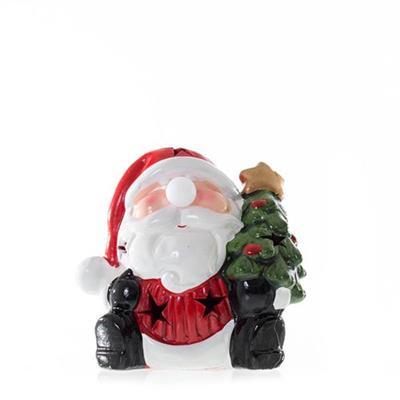Adorno Natalino Papai Noel com Árvore de Natal com Luz LED Santini 067-230203