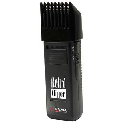 Máquina de Cortar Cabelo Gama Acabamento Retro Clipper AMC2166 6W 5 Guias de Corte Bivolt Preto