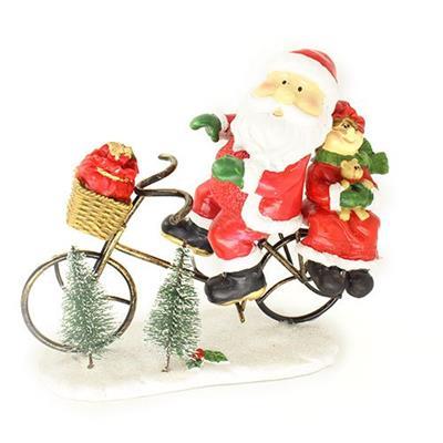 Adorno Natalino Papai Noel na Bicicleta Santini 067-050590
