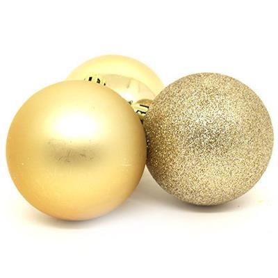 Bolas de Natal com 6 Peças Santini 048-957022SD Dourado