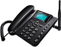 Telefone Rural de Mesa Aquário CA-42 2 Chips 110V 220V Preto