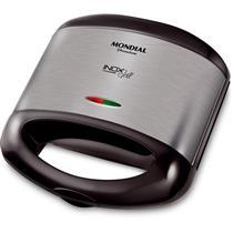 Sanduicheira Grill Mondial Premium S-07 800 W Antiaderente 110 V Preto Inox