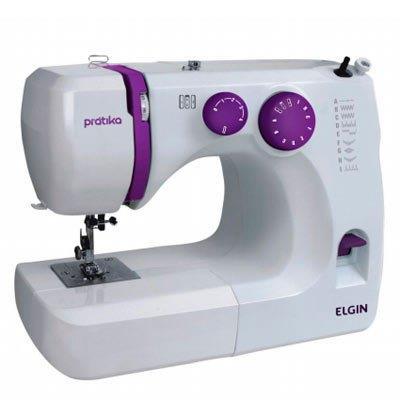 Máquina de Costura Pratika Elgin JX2051 127V 220V Branco e Lilás