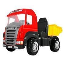 Caminhão de Brinquedo Magic Toys Truck 9300 Plástico com Pedal Vermelho