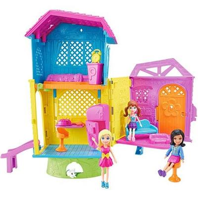 Brinquedo Polly Pocket Super Clubhouse Mattel DHW41 Plástico