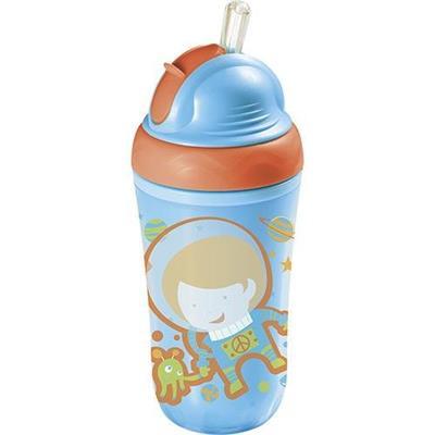 Copo Térmico Multikids Baby Cool BB034 com Canudo de Silicone Azul
