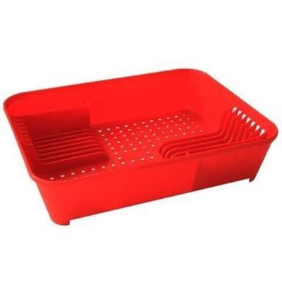 Escorredor de Pratos Coza 10848/0053 Plástico Vermelho
