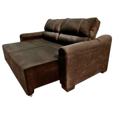 Magnificent Sofa Estofado Retratil 3 Lugares Com 2 Divisoes Aga Moveis Lisboa Marrom Machost Co Dining Chair Design Ideas Machostcouk