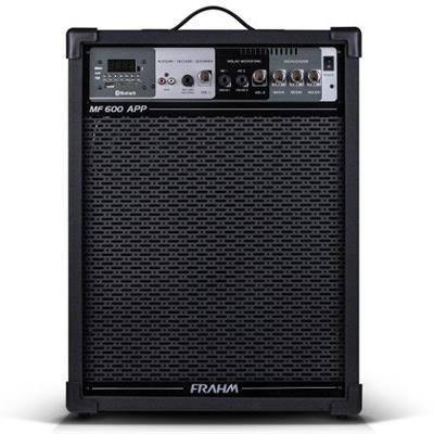 Caixa Amplificada Frahm MF 600 APP 100W Bluetooth USB Bivolt Preto