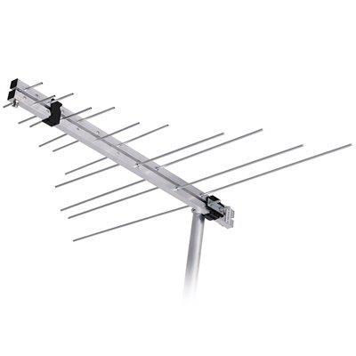 Antena Externa Aquário LVU11PLUS Conexão Coaxial Alumínio e Plástico Preto